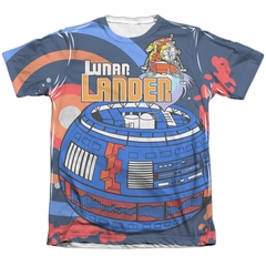 Atari Shirt Lunar Landing Poly/Cotton Sublimation T-Shirt