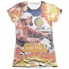 Atari Shirt Missile Command Poly/Cotton Sublimation Juniors T-Shirt