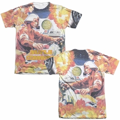 Atari Shirt Missile Command Poly/Cotton Sublimation T-Shirt Front/Back Print