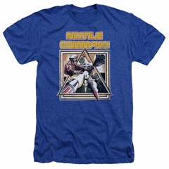 Atari Shirt Missile Commander Heather Royal Blue T-Shirt