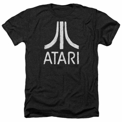 Atari Shirt Rough Logo Heather Black T-Shirt