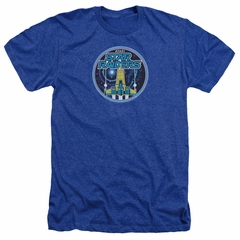 Atari Shirt Star Raiders Badge Heather Royal Blue T-Shirt