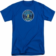 Atari Shirt Star Raiders Badge Royal Blue Tall T-Shirt