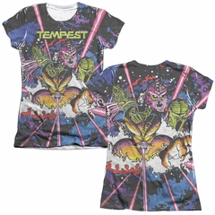 Atari Shirt Tempest Key Art Poly/Cotton Sublimation Juniors T-Shirt Front/Back Print