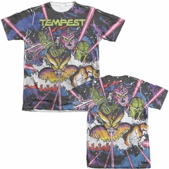 Atari Shirt Tempest Key Art Poly/Cotton Sublimation T-Shirt Front/Back Print