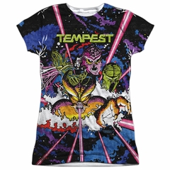 Atari Shirt Tempest Key Art Sublimation Juniors T-Shirt