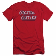 Atari Slim Fit Shirt Crystal Castles Logo Red T-Shirt