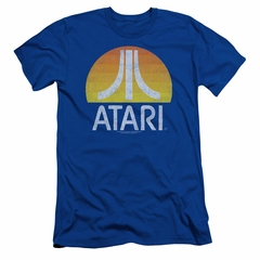 Atari Slim Fit Shirt Logo Royal T-Shirt