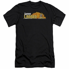 Atari Slim Fit Shirt Lunar Lander Black T-Shirt