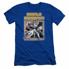 Atari Slim Fit Shirt Missile Commander Royal Blue T-Shirt