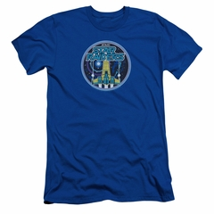 Atari Slim Fit Shirt Star Raiders Badge Royal Blue T-Shirt