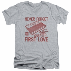 Atari Slim Fit V-Neck Shirt First Love Athletic Heather T-Shirt