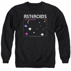 Atari Sweatshirt Asteroids Screen Adult Black Sweat Shirt