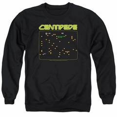 Atari Sweatshirt Centipede Screen Adult Black Sweat Shirt