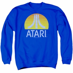 Atari Sweatshirt Logo Adult Royal Sweat Shirt