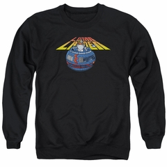 Atari Sweatshirt Lunar Globe Adult Black Sweat Shirt