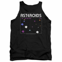 Atari Tank Top Asteroids Screen Black Tanktop