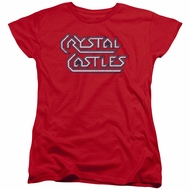 Atari Womens Shirt Crystal Castles Logo Red T-Shirt
