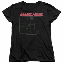 Atari Womens Shirt Major Havoc Screen Black T-Shirt