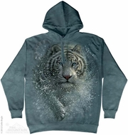 Attacking Tiger Hoodie Tie Dye Adult Hooded Sweat Shirt Hoody