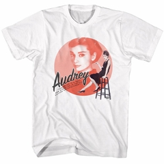 Audrey Hepburn Shirt Motion Picture White Tee T-Shirt