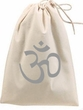 AUM Om Yoga 100% Cotton Shoe Bag with Drawstring