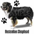 Australian Shepherd T-shirt - Cute Dog Profile Adult Tee