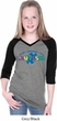 Autism Accept Understand Love Girls Three Quarter Sleeve V-Neck Shirt
