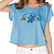 Autism Accept Understand Love Ladies Boxy Tee