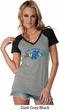 Autism Accept Understand Love Ladies Contrast V-Neck Shirt