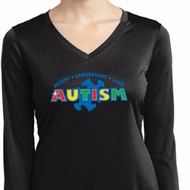 Autism Accept Understand Love Ladies Dry Wicking Long Sleeve Shirt