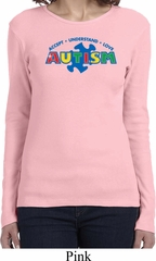 Autism Accept Understand Love Ladies Long Sleeve Shirt
