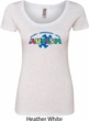 Autism Accept Understand Love Ladies Scoop Neck Shirt