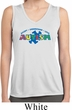 Autism Accept Understand Love Ladies Sleeveless Dry Wicking Shirt