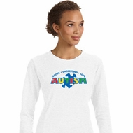 Autism Accept Understand Love Ladies Sweatshirt