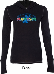 Autism Accept Understand Love Ladies Tri Blend Hoodie Shirt