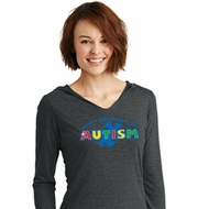 Autism Accept Understand Love Ladies Tri Hoodie