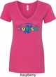 Autism Accept Understand Love Ladies V-Neck Shirt