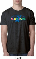 Autism Accept Understand Love Mens Burnout Shirt