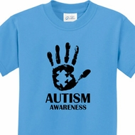 Autism Awareness Hand Kids Shirts