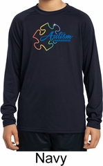 Autism Awareness Puzzle Kids Dry Wicking Long Sleeve Shirt