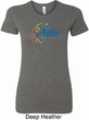 Autism Awareness Puzzle Ladies Longer Length Shirt