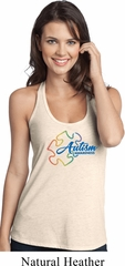 Autism Awareness Puzzle Ladies T-Back Tank Top
