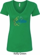 Autism Awareness Puzzle Ladies V-Neck Shirt