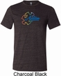 Autism Awareness Puzzle Mens Tri Blend Crewneck Shirt