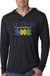 Autism Awareness Puzzle Pieces Lightweight Hoodie