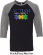 Autism Awareness Puzzle Pieces Raglan Shirt