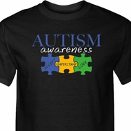 Autism Awareness Puzzle Pieces Tall T-Shirt