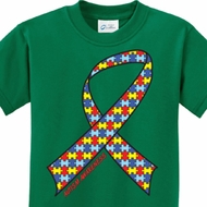 Autism Awareness Ribbon Kids Shirts