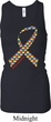 Autism Awareness Ribbon Ladies Longer Length Racerback Tank Top